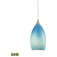 ELK 10510/1SKY-LED Earth LED 5 inch Satin Nickel Pendant Ceiling Light in 1, Whispy Cloud Sky Blue