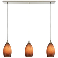 Earth 3 Light 36 inch Satin Nickel Pendant Ceiling Light in Textured Sand