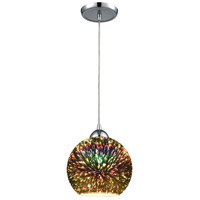 ELK 10517/1 Illusions 1 Light 8 inch Polished Chrome Pendant Ceiling Light