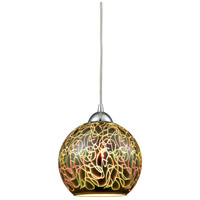 ELK 10518/1 Illusions 1 Light 8 inch Polished Chrome Mini Pendant Ceiling Light in Standard