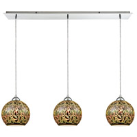 ELK 10518/3LP Illusions 3 Light 36 inch Polished Chrome Mini Pendant Ceiling Light in Linear Linear