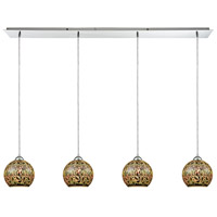 Illusions 4 Light 46 inch Polished Chrome Pendant Ceiling Light, Linear Pan