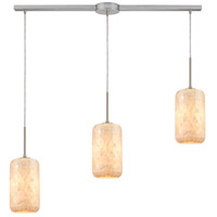ELK 10542/3L Capri 3 Light 36 inch Satin Nickel Pendant Ceiling Light in Linear with Recessed Adapter