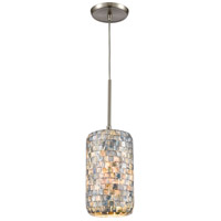 ELK 10552/1 Capri 1 Light 6 inch Satin Nickel Mini Pendant Ceiling Light in Standard