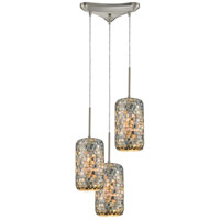 ELK 10552/3 Capri 3 Light 12 inch Satin Nickel Pendant Ceiling Light