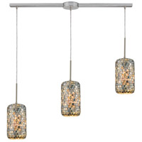 ELK 10552/3L Capri 3 Light 36 inch Satin Nickel Pendant Ceiling Light in Linear with Recessed Adapter