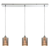 ELK 10565/3LP Plated Rings 3 Light 36 inch Polished Chrome Mini Pendant Ceiling Light in Linear, Linear