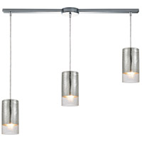 ELK 10570/3L Tallula 3 Light 38 inch Polished Chrome Linear Pendant Ceiling Light in Linear with Recessed Adapter
