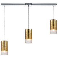 ELK 10580/3L Tallula 3 Light 38 inch Polished Chrome Linear Pendant Ceiling Light in Linear with Recessed Adapter