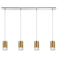 ELK 10580/4LP Tallula 4 Light 46 inch Polished Chrome Linear Pendant Ceiling Light