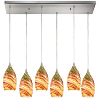 Collanino 6 Light 30 inch Satin Nickel Pendant Ceiling Light