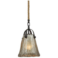 Hand Formed Glass 1 Light 7 inch Oil Rubbed Bronze Pendant Ceiling Light in Standard