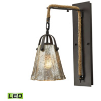 Elk Lighting Hand Formed Glass LED Wall Sconce in Oil Rubbed Bronze 10631/1SCN-LED