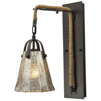 Hand Formed Glass 1 Light 7 inch Oil Rubbed Bronze Wall Sconce Wall Light in Incandescent