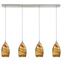 Collanino 4 Light 46 inch Satin Nickel Pendant Ceiling Light