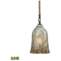 Hand Formed Glass LED 6 inch Oil Rubbed Bronze Pendant Ceiling Light