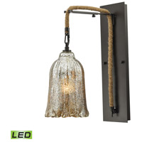 Elk Lighting Hand Formed Glass LED Wall Sconce in Oil Rubbed Bronze 10641/1SCN-LED