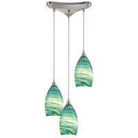 Collanino 3 Light 10 inch Satin Nickel Pendant Ceiling Light