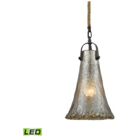 Hand Formed Glass LED 8 inch Oil Rubbed Bronze Pendant Ceiling Light