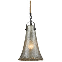 Hand Formed Glass 1 Light 8 inch Oil Rubbed Bronze Pendant Ceiling Light in Standard