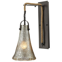 Hand Formed Glass 1 Light 8 inch Oil Rubbed Bronze Wall Sconce Wall Light in Incandescent