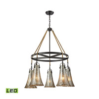 Hand Formed Glass LED 34 inch Oil Rubbed Bronze Chandelier Ceiling Light