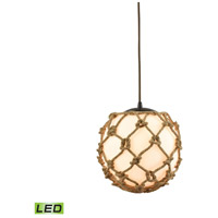 Coastal Inlet LED 11 inch Oil Rubbed Bronze Pendant Ceiling Light