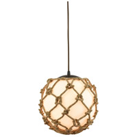 Coastal Inlet 1 Light 11 inch Oil Rubbed Bronze Pendant Ceiling Light