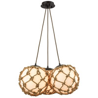 Coastal Inlet 3 Light 22 inch Oil Rubbed Bronze Chandelier Ceiling Light