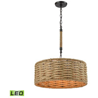ELK 10711/3-LED Weaverton LED 19 inch Oil Rubbed Bronze Chandelier Ceiling Light