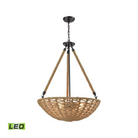 ELK 10712/4-LED Weaverton LED 25 inch Oil Rubbed Bronze Chandelier Ceiling Light