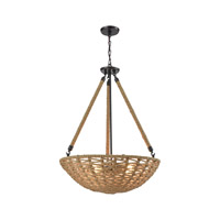 ELK 10712/4 Weaverton 4 Light 25 inch Oil Rubbed Bronze Chandelier Ceiling Light