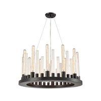Glass Skyline 12 Light 27 inch Oil Rubbed Bronze Chandelier Ceiling Light