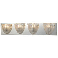 Verannis 4 Light 28 inch Polished Chrome Vanity Wall Light