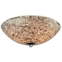 ELK 10730/3 Crosshatch 3 Light 16 inch Polished Chrome Flush Mount Ceiling Light