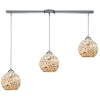 ELK 10741/3L Spatter 3 Light 36 inch Polished Chrome Mini Pendant Ceiling Light in Linear with Recessed Adapter, Linear