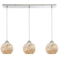 ELK 10741/3LP Spatter 3 Light 36 inch Polished Chrome Mini Pendant Ceiling Light in Linear Linear