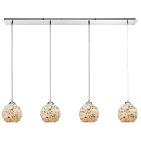 ELK 10741/4LP Spatter 4 Light 46 inch Polished Chrome Mini Pendant Ceiling Light in Linear, Linear
