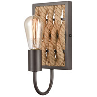 ELK 10752/1 Weaverton 1 Light Oil Rubbed Bronze Vanity Light Wall Light