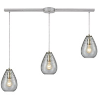 ELK 10760/3L Lagoon 3 Light 36 inch Satin Nickel Mini Pendant Ceiling Light in Linear with Recessed Adapter, Linear