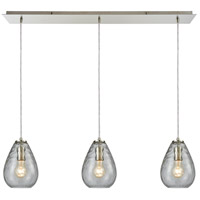 Lagoon 3 Light 36 inch Satin Nickel Pendant Ceiling Light, Linear Pan