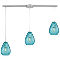 Lagoon 3 Light 36 inch Satin Nickel Linear Bar Pendant Ceiling Light