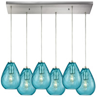 Lagoon 6 Light 30 inch Satin Nickel Pendant Ceiling Light