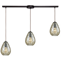 Lagoon 3 Light 36 inch Oil Rubbed Bronze Linear Bar Pendant Ceiling Light