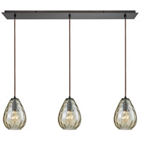 Lagoon 3 Light 36 inch Oil Rubbed Bronze Pendant Ceiling Light, Linear Pan