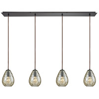 Lagoon 4 Light 46 inch Oil Rubbed Bronze Pendant Ceiling Light, Linear Pan