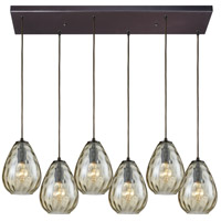 Lagoon 6 Light 30 inch Oil Rubbed Bronze Pendant Ceiling Light