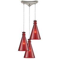 Parson 3 Light 10 inch Satin Nickel Pendant Ceiling Light in Triangular Canopy, Triangle Pan