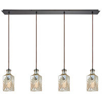 Giovanna 4 Light 46 inch Oil Rubbed Bronze Pendant Ceiling Light, Linear Pan