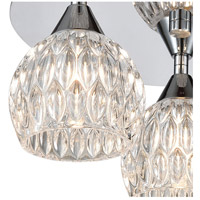 ELK 10823/3 Kersey 3 Light 12 inch Polished Chrome Semi Flush Mount Ceiling Light alternative photo thumbnail